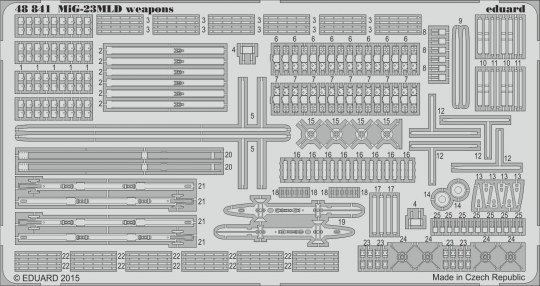 Eduard - MiG-23MLD weapons for Trumpeter