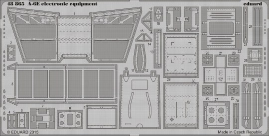 Eduard - A-6E electronic equipment for Hobby Boss