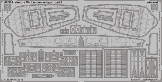 Eduard - Ventura Mk.II undercarriage for Revell