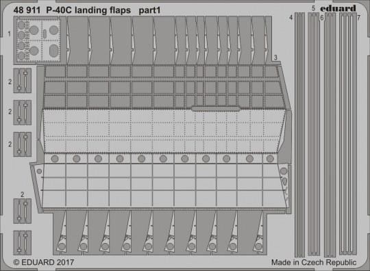 Eduard - P-40C landing flaps for Bronco