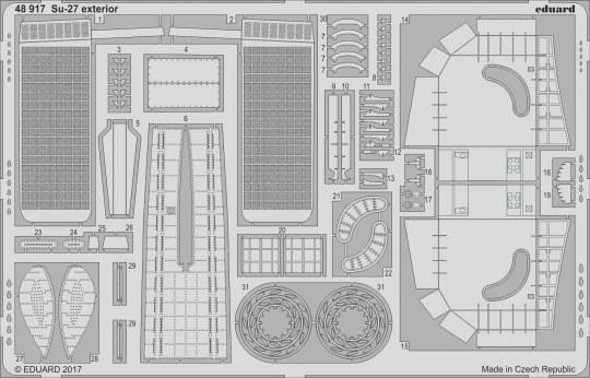 Eduard - Su-27 exterior for Hobby Boss