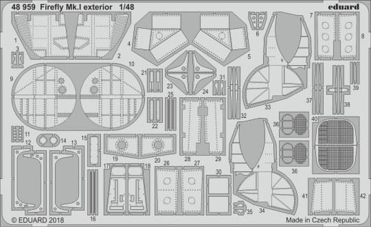 Eduard - Firefly Mk.I exterior for Trumpeter
