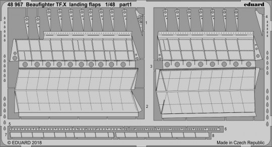 Eduard - Beaufighter TF.X landing flaps f.Revell