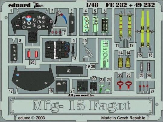 Eduard - MiG-15 Fagot für Trumpeter Bausatz