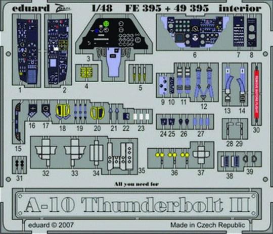 Eduard - A-10 Thunderbolt II interior für Hobby Boss Bausatz