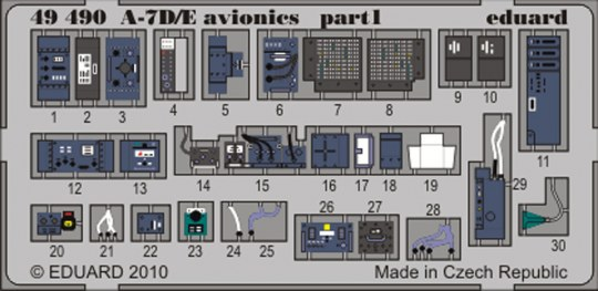 Eduard - A-7D/E avionics for Hobby Boss