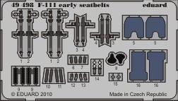 Eduard - F-111 early seatbelts for Hobby Boss