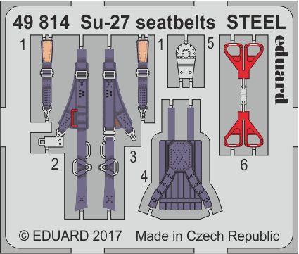 Eduard - Su-27 seatbelts STEEL for Hobby Boss