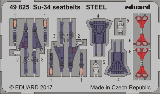 Eduard - Su-34 seatbelts STEEL for Hobby Boss