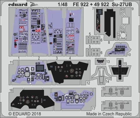 Eduard - Su-27UB interior for Hobby Boss