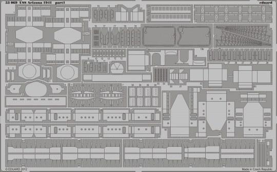 Eduard - USS Arizona 1941 1/350 for Hobby Boss
