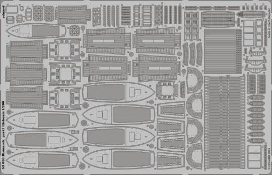 Eduard - Bismarck part 1 - lifeboats f. Trumpeter