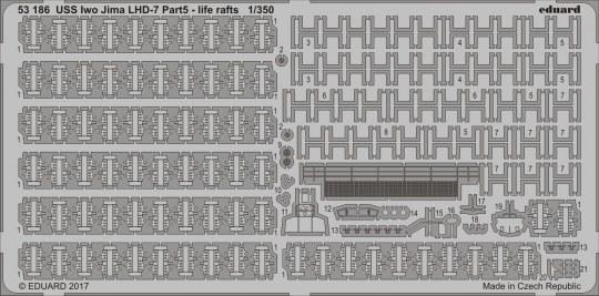 Eduard - USS Iwo Jima LHD-7 pt.5 life rafts for Trumpeter