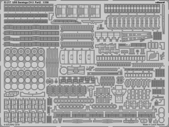 Eduard - USS Saratoga CV-3 pt.2 for Trumpeter
