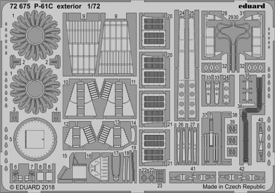 Eduard - P-61C exterior for Hobby Boss