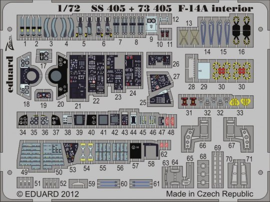 Eduard - F-14A interior S.A. for Hobby Boss