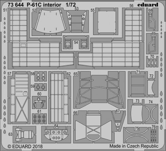 Eduard - P-61C interior for Hobby Boss