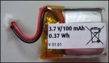 LiPo-Akku 3,7V/100 mAh(23970/71/23942/23943/23965)