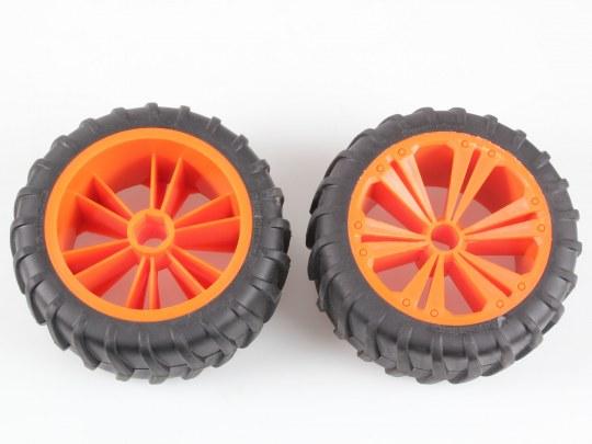 2 x Räder orange, groß (Monster)