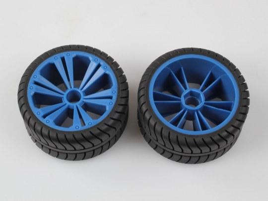 2 x Räder blau