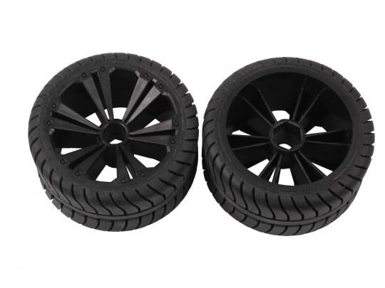 2 x Räder schwarz, klein (Muscle Car)