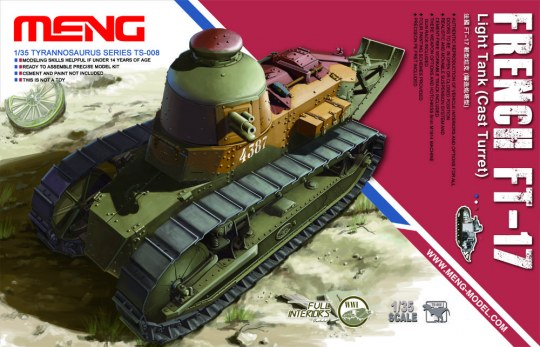 MENG-Model - French FT-17 Light Tank(Cast Turret)