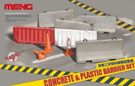 MENG-Model - Concrete & plastic barrier set