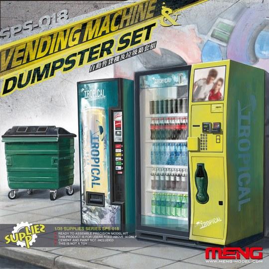 MENG-Model - Vending Machine & Dumster Set