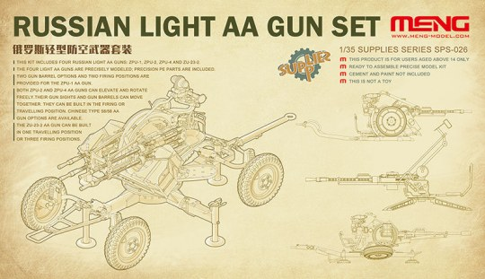 MENG-Model - Russian Light AA Gun Set