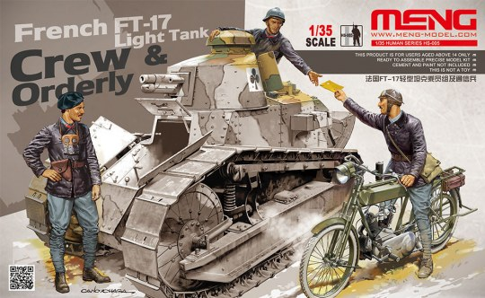 MENG-Model - French FT-17 Light Tank Crew & Orderly