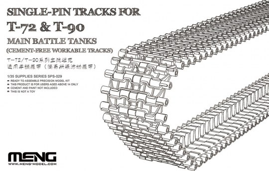 MENG-Model - Single-Pin Tracks for T-72 & T-90 Main Battle Tanks(Cement-Free workable