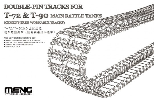 MENG-Model - Double-Pin Tracks for T-72 & T-90 Main Battle Tanks(Cement-Free Worka