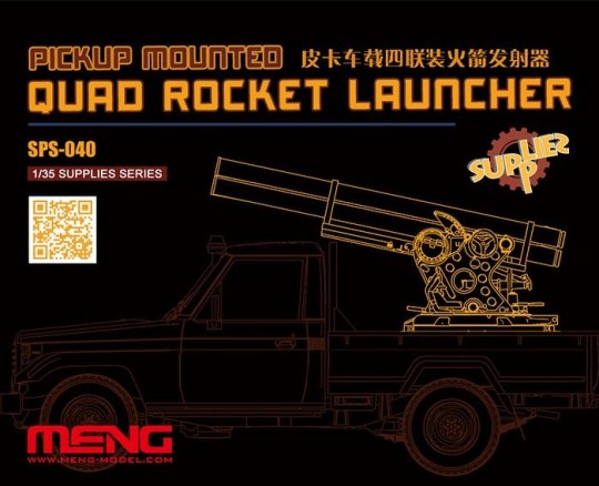MENG-Model - Pickup Mounted Quad Rocket Launcher (RESIN)