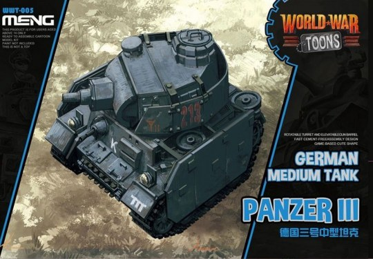 MENG-Model - German Medium Tank Panzer III(Cartoon