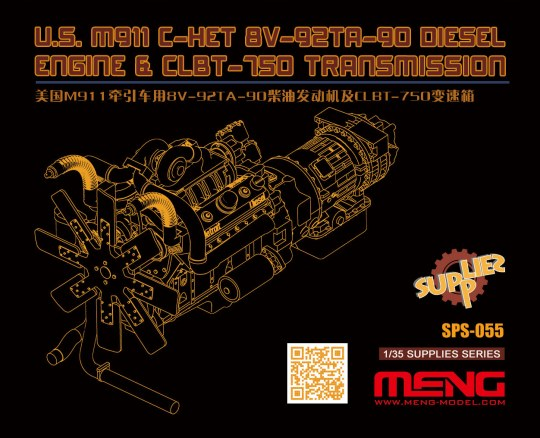 MENG-Model - U.S.M911 C-HET 8V-92TA-90 Diesel Engine & CLBT-750 Transmission(resin)