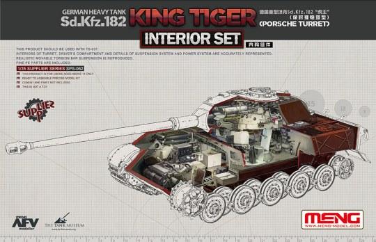 MENG-Model - German Heavy Tank Sd.Kfz.182 King Tiger (Porsche Turret) Interior Set