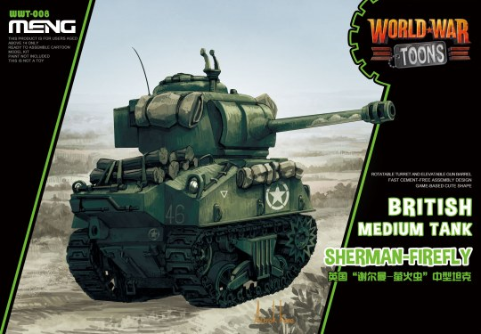 MENG-Model - British Medium Tank Sherman-Firefly (CARTOON MODEL)