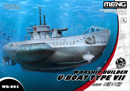 MENG-Model - Warship Builder- U-Boat Type VII (Cartoon Model)