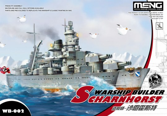 MENG-Model - Warship Builder-Scharnhorst(cartoonized model kit)