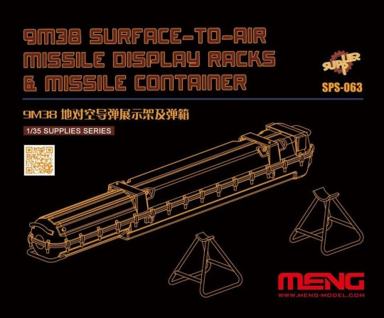 MENG-Model - 9M38 Surface-to-air Missile DisplayRacks & Missile Container (Resin)