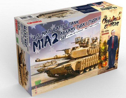 MENG-Model - U.S. Main Battle Tank M1A2 SEP Abrams TUSK I/TUSK II Limited Christmas Edit
