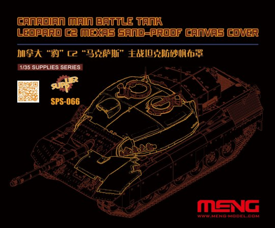 MENG-Model - Canadian Main Battle Tank Leopard C2 MEXAS Sand-Proof Canvas Cover(Resin)