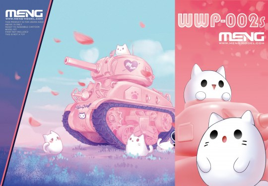 MENG-Model - M4A1 Sherman (CartoonModel,pink color incl.resin cartoon kitten figurines)