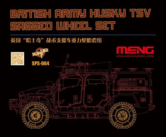 MENG-Model - British Army Husky TSV Sagged Wheel Set (Resin)