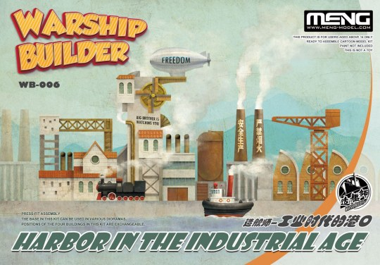 MENG-Model - Warship Builder-Harbor In The Industrial Age (CARTOON MODEL)