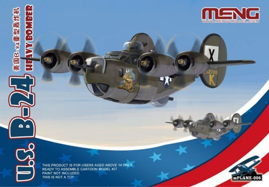 MENG-Model - U.S. B-24 Heavy Bomber (Cartoon Model)