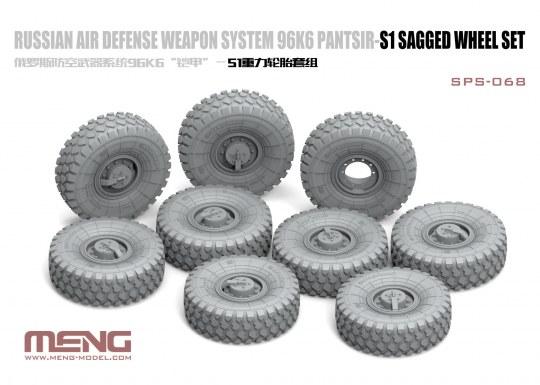 MENG-Model - Russian Air Defense Weapon System 96K6 Pantsir-S1 Sagged Wheel Set