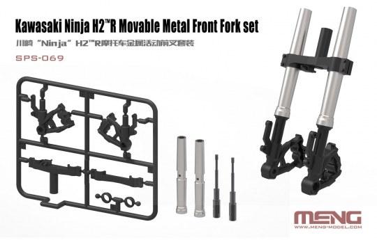 MENG-Model - Kawasaki Ninja H2(TM)R Movable Metal Front Fork Set