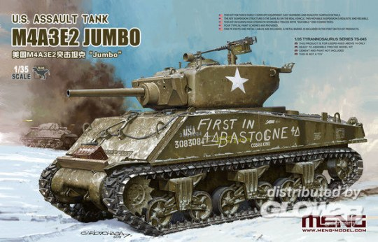 MENG-Model - U.S. Assault Tank M4A3E2 Jumbo
