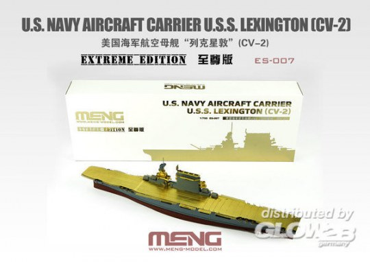 MENG-Model - U.S. Navy Aircraft Carrier U.S.S. Lexington (Cv-2) Extreme Edition